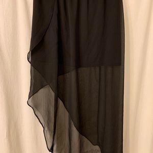 Express High Low Black Skirt